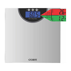 COBY Digital Bathroom Scale with Color Changing Display and Weight Comparison Feature