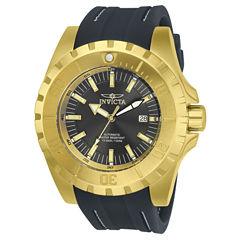 Invicta Mens Black Strap Watch-23799