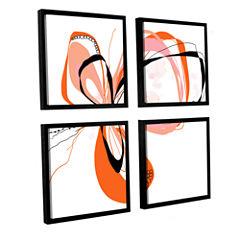 Brushstone Ribbons 3 4-pc. Square Floater Framed Canvas Wall Art