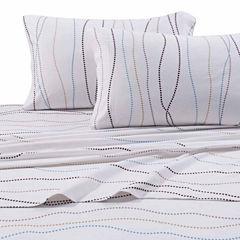 Tribeca Living Dot Printed Flannel Flannel Sheet Set