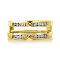 1/4 CT. T.W. Diamond 14K Yellow Gold Pinched Ring Wrap