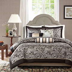 Madison Park Wellington 6-pc. Paisley Duvet Cover Set & Accessories