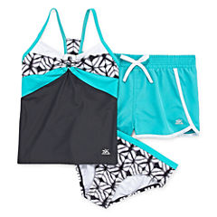 Zeroxposur Girls Geometric Tankini Set - Big Kid