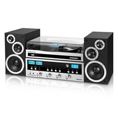 Innovative Technology ITCDS-6000 Classic Retro Bluetooth Stereo System with Turntable