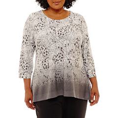 Lark Lane Embellished Pointelle Tunic- Plus