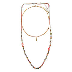 Decree Womens 32 Inch Clear Link Necklace