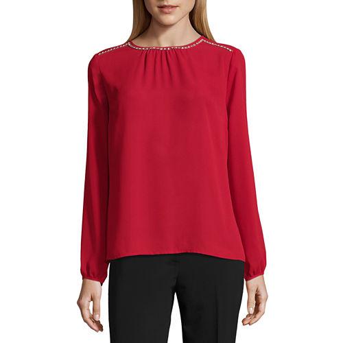 Liz Claiborne Long Sleeve Woven Blouse