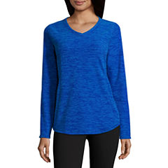 St. John's Bay Active Fleece V-Neck- Talls