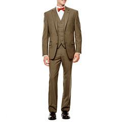 IZOD® Light Brown Sharkskin Suit Separates - Classic Fit