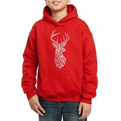 Los Angeles Pop Art Popular Types Of Deer Hoodie-Big Kid Boys