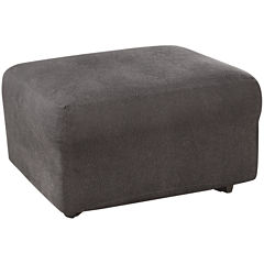 SURE FIT® Ultimate Stretch Faux-Leather 1-pc. Ottoman Slipcover