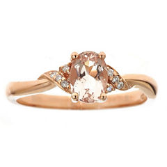 LIMITED QUANTITIES! Diamond Accent Pink 10K Gold Cocktail Ring