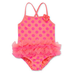 Okie Dokie Pattern One Piece Swimsuit Toddler Girls