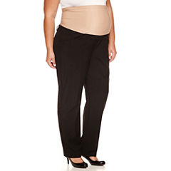 duo™ Maternity Overbelly Straight-Leg Trouser Pants - Plus