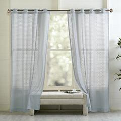 Madison Park Marie Grommet-Top Curtain Panel