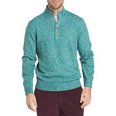 IZOD Harbor River Sweater Mock Neck Long Sleeve Pullover Sweater