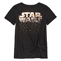 Short Sleeve Crew Neck Star Wars Graphic T-Shirt