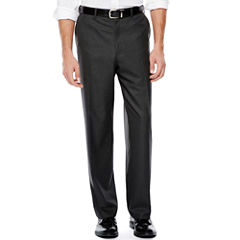 IZOD® Gray Sharkskin Flat-Front Suit Pants - Classic Fit