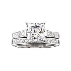 DiamonArt® Cubic Zirconia 3 3/4 CT. T.W. Bridal Ring Set