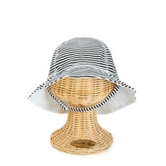San Diego Hat Company Infant Girl Bucket Hat with Velcro Chin Strap