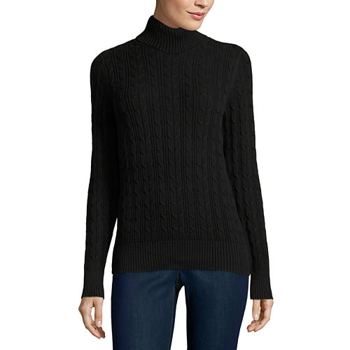 St. John's Bay Turtleneck Sweater- Talls