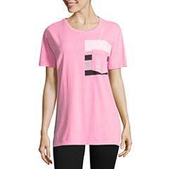 Flirtitude Short Sleeve Round Neck Graphic T-Shirt