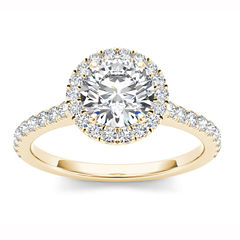 Womens 1 1/4 CT. T.W. Round White Diamond 14K Gold Engagement Ring