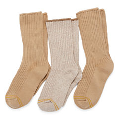 GoldToe 3-pk. Cotton Casual Crew Socks- Boys