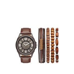 Arizona Mens Brown 5-pc. Watch Boxed Set-Fmdarz540
