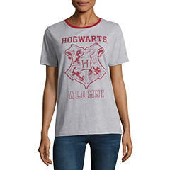 Short Sleeve Crew Neck Harry Potter Graphic T-Shirt
