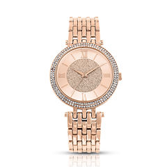 Daisy Fuentes Womens Rose Goldtone Bracelet Watch-Df103rg