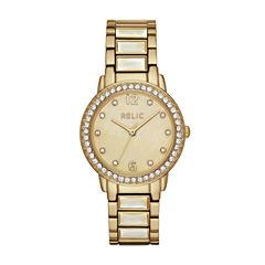 Relic Womens Gold Tone Bracelet Watch-Zr34407