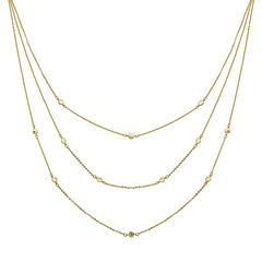Womens 10K Gold Strand Necklace