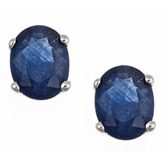 LIMITED QUANTITIES! Oval Blue Sapphire 10K Gold Stud Earrings