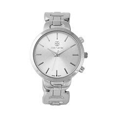 Daisy Fuentes Womens Silver Tone Bangle Watch-Df123sl