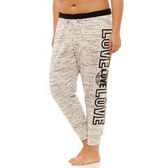 Flirtitude Fleece Jogger Pants - Juniors Plus