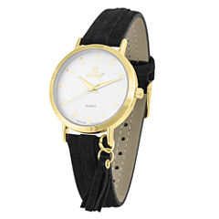 Decree Womens Black Strap Watch-Pt2659gdbk