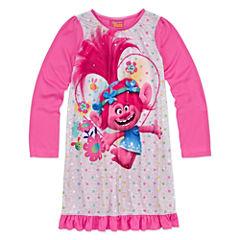 Trolls Long Sleeve Nightgown-Big Kid Girls