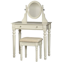 Lorraine White Vanity Set