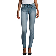 Ymi Solid Denim Leggings-Juniors
