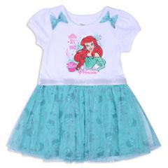 Disney Princess Short Sleeve The Little Mermaid Skater Dress - Toddler Girls