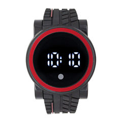 Mens Black Strap Watch-33554
