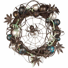 National Tree Co. 18 Inch Black Spider Wreath