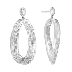 Diamond Addiction 1/10 CT. T.W. Diamond Chunky Teardrop Earrings