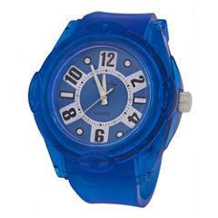Zunammy® Mens Blue Silicone Watch