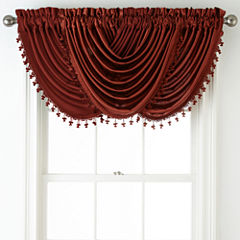 Royal Velvet® Hilton Rod-Pocket Waterfall Valance