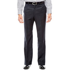 Collection by Michael Strahan Black Herringbone Flat-Front Suit Pants - Classic Fit