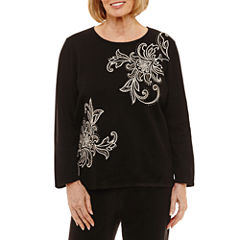 Alfred Dunner Talk Of The Town Scroll Beaded Sweater