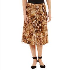 Alfred Dunner Jungle Habitat Pleated Skirt