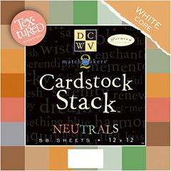 58-Pack Textured Neutrals Cardstock Stack